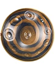 Tambourine Drum,Tambourines for Adults,Handpan Drum Hand pan In D Minor 10 Notes 22 Inch Steel Hand Drum with Soft Hand Pan Bag Hand Pan-A