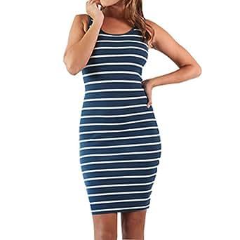 Juleya Maternidad Rayas Vestido de enfermería para el Embarazo Mujer Vestido de Maternidad Ropa Lactancia Vestido de enfermería Azul Oscuro S
