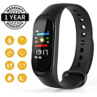 Himtronics M3 Smart Fitness Band Activity Tracker with Heart Rate Sensor Compatible for All Androids and iOS Phone/Tablet