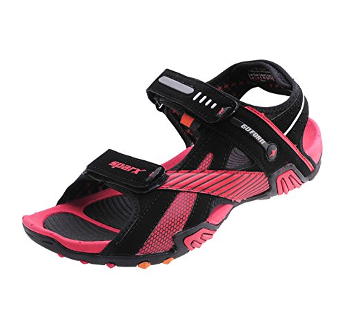 0707e5a27 Sparx Men Black   Red Sandals   Floaters SS-433  Buy Online at Low ...