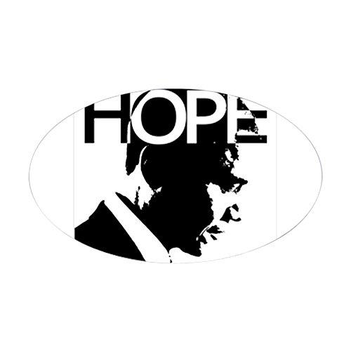 CafePress Obama Hope Oval Sticker Oval Bumper Sticker, Euro Oval Car Decal (Barack Obama Hope Sticker)
