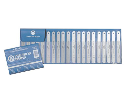 Precision Brand 20 Piece Pocket Feeler gage Assortment, 1/2