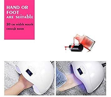 Amazon.com: Lámpara de uñas de gel, 48 W, luz UV, LED ...
