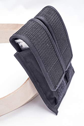 OutBags USA FS-2MPC Double Magazine Pouch for Compact Mags. Single and Double Stacked 9mm, 40 S&W, 45 ACP 6-10 Round Mags. Family Owned & Operated. Made in USA (9mm 8 Round Magazine)