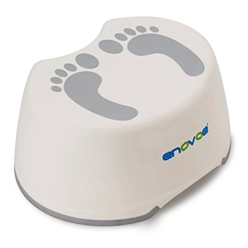 Enovoe Step Stool For Kids - Safe, Durable, Tall, Wide, Easy To Clean, Portable And Anti-Slip Toddler Step Stools Perfect For Toilet Training, Bathroom, Bedroom And Kitchen Use for Children