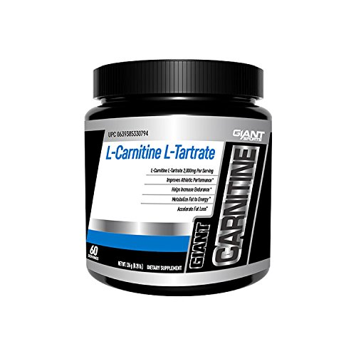 Giant Sports L Carnitine L Tartrate Powder, Metabolize Fat, Accelerate Fat Loss, 2000mg Per Serving, 60 Servings