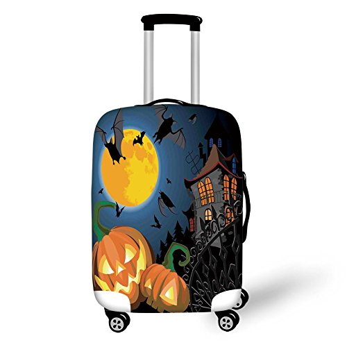 Travel Luggage Cover Suitcase Protector,Halloween Decorations,Gothic Halloween Haunted House Party Theme Decor Trick or Treat for Kids,Multi,for -