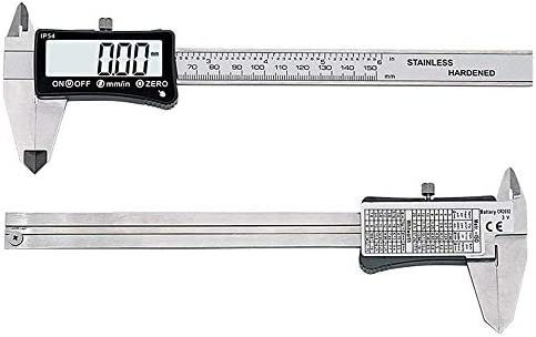 kaige Touch Screen Electronic Digital Caliper IP54 High Precision Vernier Caliper Mini Measuring Tool 0-150mm (Size : 0-150mm) WKY