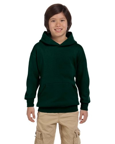 - Hanes Youth ComfortBlend EcoSmart Hooded Pullover - Deep Forest - L