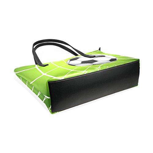 COOSUN Fußball Fußball In Net PU Leder Schultertasche Handtasche und Handtaschen Tote Bag für Frauen