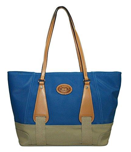 """La Martina - Shopping bag in tessuto e pelle, La Martina """"Martinez lady"""" - 254005.08 - - UNICA, Avio/Ecru"""