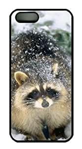Baby Raccoon in the Snow Hard Shell Black Sides Cover Case for Iphone6 4.7 and Iphone6 4.7 by Sakuraelieechyan