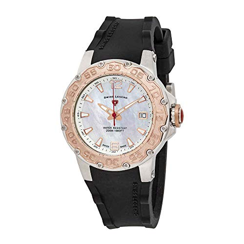 (Swiss Legend 14098Sm-Sr-02 Ultrasonic Black Silicone Mother Of Pearl Dial Rose-Tone Bezel)