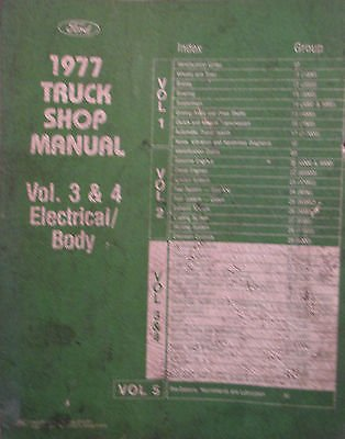1977 Ford Truck Shop Manual - Electrical & Body - Volume 3 & 4 ()