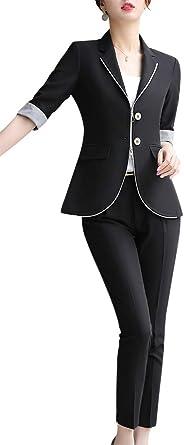 Mujer Formal 2 piezas Oficina Señora Blazer Trajes de Media ...