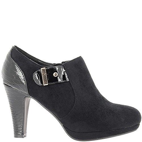 Stivali donna nero tacco 9cm materiale bi