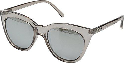 Le Specs Women's Half Moon Magic Sunglasses, Stone/Smoke Mono Silver Mirror, One Size