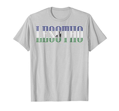 Mens Flag of Lesotho T-shirt Tee Tees T Shirt Tshirt XL Silver