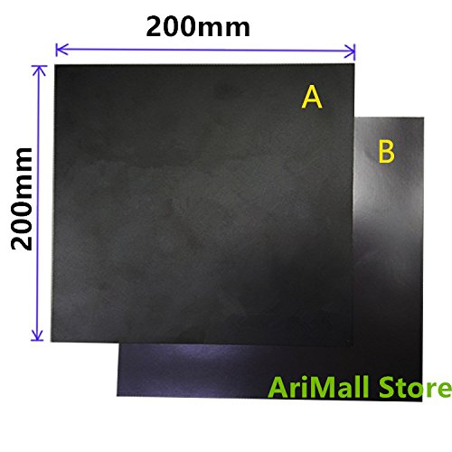 WillBest 1pcs 3D Printer Part 200x200mm Heatbed Magnetic Adhesive Sticker Flex Build Plate A+B pc Insulation Film kit