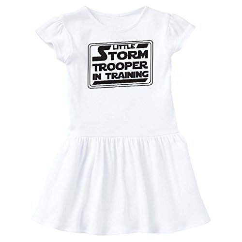 inktastic Little Storm Trooper In Training Infant Dress 12 Months White (Stormtrooper Training)