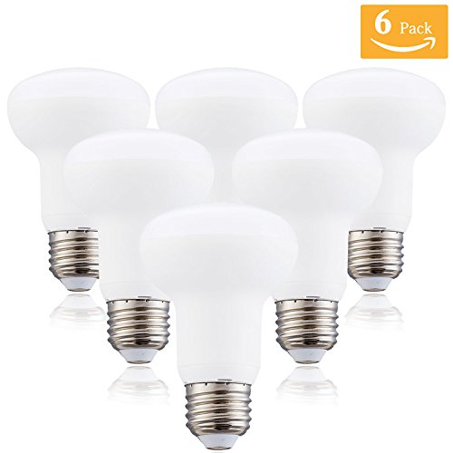 R20/BR20 7 Watt Dimmable LED Light Bulb Equivalent 70 Watt Incandescent,E26 Medium Base 5000K Daylight White 120 Volt 700 Lumens Incandescent R20 Medium Reflector Light Bulb (6 Pack) ()