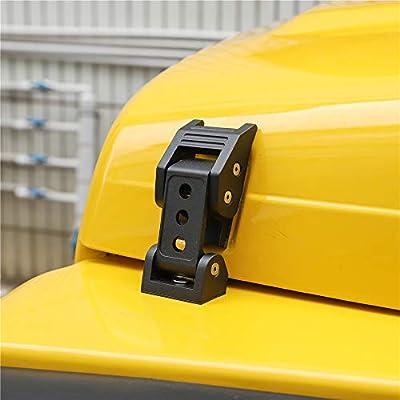 TJ Hood Latch Hood Lock Catch - JeCar Aluminum Hood Latches Catch Kit for Jeep Wrangler TJ Accessories 1997-2006: Automotive