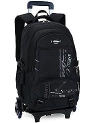 Meetbelify Trolley School Bags Backpack For Kids With Six Wheels Handbag Water Resistant