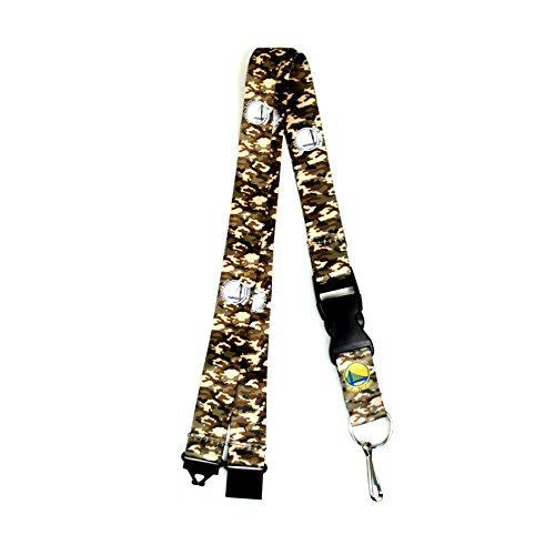 aminco NBA Golden State Warriors Army Camo Lanyard by aminco