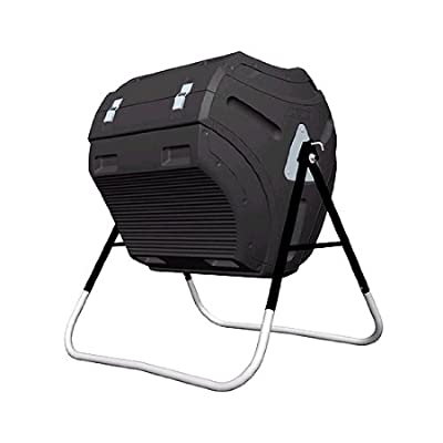 Image of Home and Kitchen Lifetime 60058 Compost Tumbler, Black, 80-Gallon