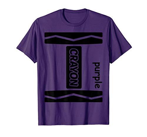 Purple Crayon Halloween Couple Friend Group Costume Shirt -