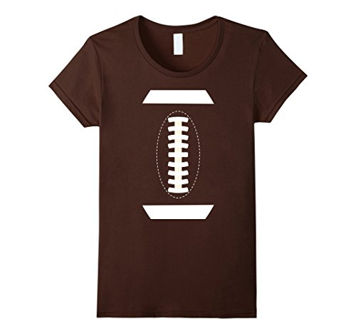 [Womens Football Costume - Sports Ball - Halloween Costume T-Shirt Small Brown] (Female Football Costume)