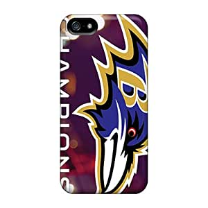 Protective Hard Cell-phone Cases For Iphone 5/5s With Support Your Personal Customized Colorful Baltimore Ravens Series TimeaJoyce