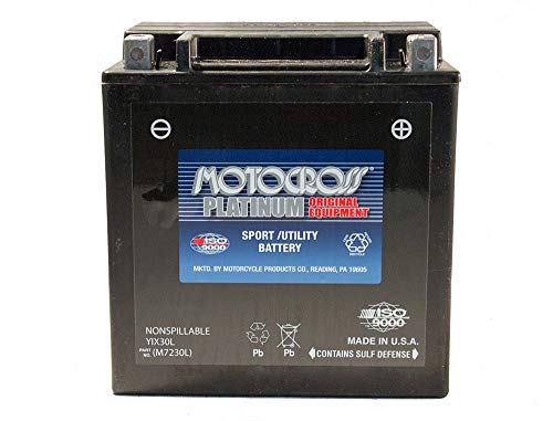 - 12V 30AH 385CCA Battery for ATV Polaris Sportsman