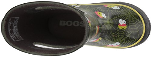 Bogs Kids' Skipper Waterproof Rubber Rain Boot for Boys and Girls,Smiley Spiders/Dark Green/Multi,11 M US Little Kid by Bogs (Image #8)