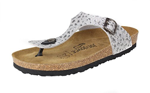 JOE N JOYCE Rio SynSoft Soft-Footbed Sandals Leosilver CTq0g8