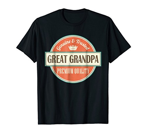 Great Grandpa T-shirt Vintage Fathers Day Gift Tee