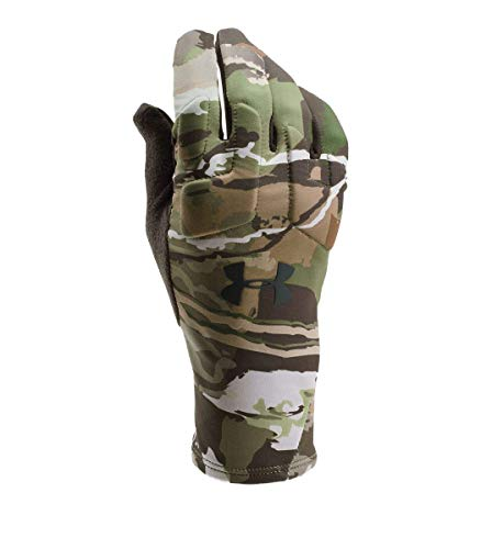 Under Armour Men's Scent Control 2.0 Hunting Gloves, Ridge Reaper Camo Forest (943)/Black, - Armour Under Hunting Gloves