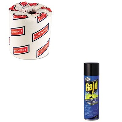KITBWK6180DRA94892 - Value Kit - Raid Commercial Flying Insect Killer (DRA94892) and White 2-Ply Toilet Tissue, 4.5quot; x 3quot; Sheet Size (BWK6180)