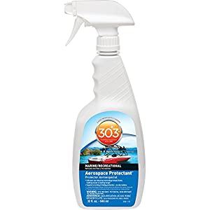 303 (30306) Marine UV Protectant Spray for Vinyl, Plastic, Rubber, Fiberglass, Leather & More – Dust and Dirt Repellant - Non-Toxic, Matte Finish, 32 fl. Oz