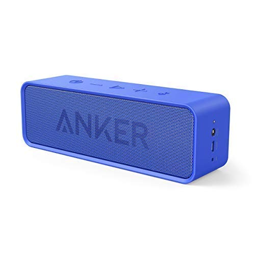 Anker Soundcore Bluetooth Speaker with 24-Hour Playtime, 66-Feet Bluetooth Range & Built-in Mic, Dual-Driver Portable Wireless Speaker with Low Harmonic Distortion and Superior Sound - Blue