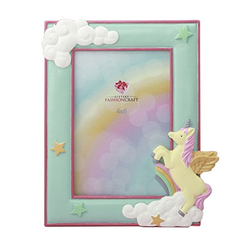Magical Unicorn Hand Painted Pastel Frame for 4x6 Photo