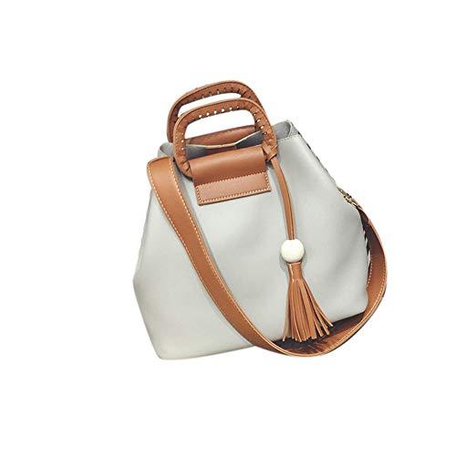 Tote Handbag Bag KIMODO Messenger Fashion Crossbody Tassel Bag Hobo Ladies Shoulder Gray WcAqraXcwx