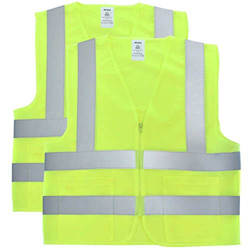 Neiko 53965A High Visibility Neon Yellow Safety Vest with Reflective Strips and Mesh Fabric and Pockets, ANSI/ISEA Standard | Size XXXL | 2 Pack by Neiko