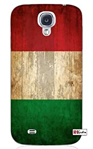 Cool Painting Distressed Italian National Flag Italy Unique Quality Hard Snap On Case for Samsung Galaxy S4 I9500 - White Case