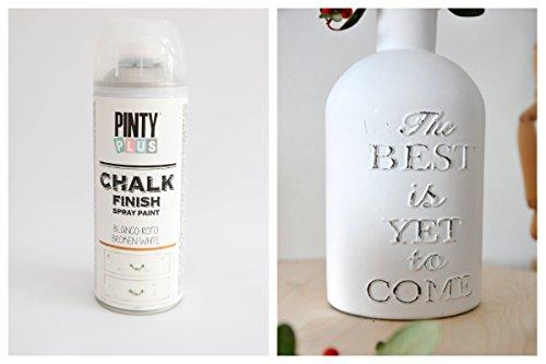 Pinty Plus Chalk Finish CK788 Spray Paint Broken White - Pintura en Aerosol, 400 ml, Blanco R