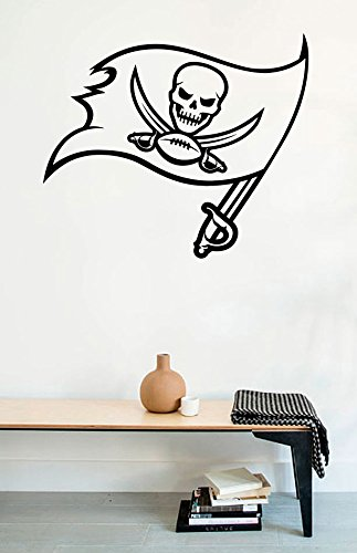 Wall Decals Tampa Bay Buccaneers Logo American Football Vinyl Stickers Mural (Pirate Store Tampa)