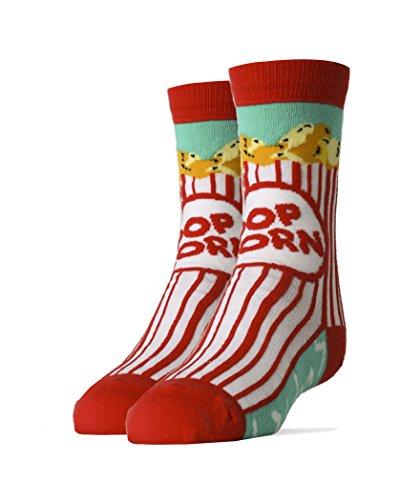 Oooh Yeah Socks Kids Crew Funny Novelty Box O Popcorn