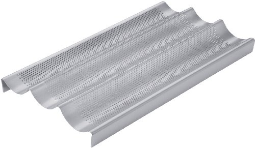 Chicago Metallic Commercial II Non-Stick Perforated Baguette Pan (Loaf Commercial Pan)