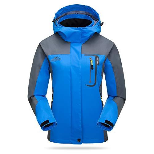 Lixada Waterproof Jacket Windproof Raincoat Tear Resistant Sportswear Outdoor Hiking Traveling Cycling Sports Detachable…