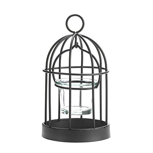 Koehler Holiday Seasonal Home Decor Iron Charming Mini Birdcage Hanging ()